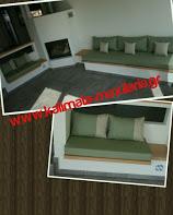 μαξιλαρια χτιστού καναπέ